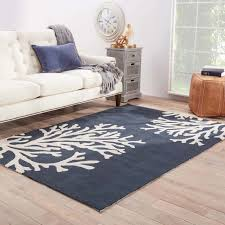 Coral Reef Area Rug Coral Branch Out Area Rug Navy Blue