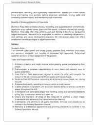 Sanitation Worker Job Description Resume Subway Job Duties Download Subway Job Description Resume