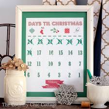 christmas countdown calendar printable christmas countdown calendar the country chic cottage