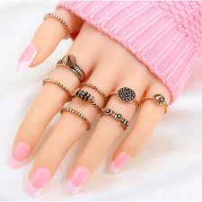 aliexpress buy new arrival cool charm vintage 2018 new 9pcs lot shiny cool style silver color stacking