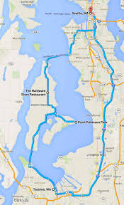 Seattle Ferry Map by Day Ride To Vashon Island Steel Horse Journeys