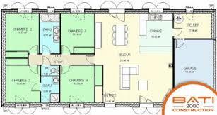 plan maison 4 chambres plain pied gratuit de maison 4 chambres gratuit adorable plan de maison plain pied 4