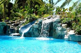 Waterfall In Backyard Charming U0026 Spectacular Pool Waterfalls To Fashion Every Backyard