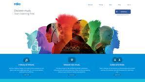 Web Design Inspiration Rdio TheArtHunters