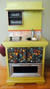 from old end table to adorable play kitchen plays kitchens and