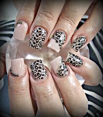 neutral leopard acrylic nails nails u003c3 pinterest acrylics