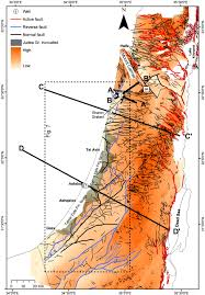 Judea Map Reactivation Of The Levant Passive Margin During The Late Tertiary