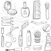 clipart of makeup set sketch drawing k11463092 search clip art