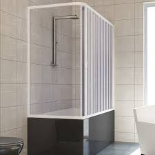 over bath shower enclosure plastic pvc folding doors panel side