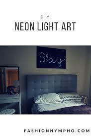 diy neon light art u2013 fashion
