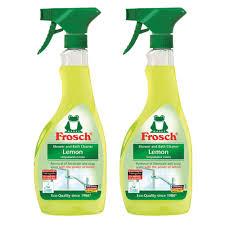 amazon com frosch natural lemon shower bathroom cleaner spray amazon com frosch natural lemon shower bathroom cleaner spray bottle 500ml pack of 2 health personal care