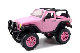 white and pink jeep amazon com jada toys girlmazing big foot jeep r c vehicle 1 16