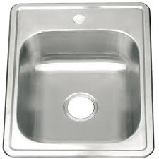 Small Single Bowl Matt Brushed Stainless Steel Inset Mount Kitchen - Smallest kitchen sink