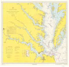 Chesapeake Bay Map Historical Nautical Charts Of The Southern Part Of The Chesapeake Bay