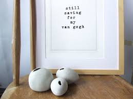 funny typographic art print perfect house warming or