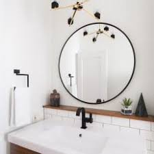 bathroom round mirror photos hgtv