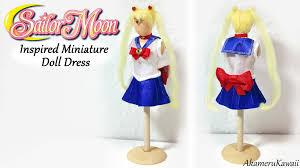 miniature sailor moon inspired doll dress tutorial youtube