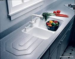 Modern Kitchen Sinks by Furniture Exciting Corian Countertops With Kitchen Sink Faucet