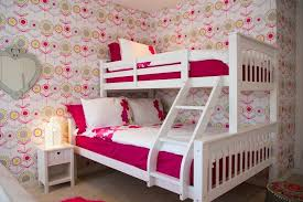 Quirky Bedroom Furniture by Quirky Bedroom Kids Contemporary With Pop Floral Wooden Bunk Beds