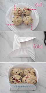 easy paper plate basket for muffins printable tags paper plate