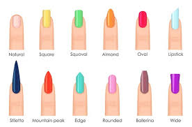 types of acrylic nails find which shape is perfect for your hands