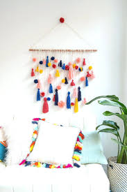 wall ideas wall hanging for bedroom wall decorations for diy wall decor for bedroom tumblr how cute is this diy pom pom tassel wall hanging wall decor ideas for girl bedroom wall hanging for bedroom