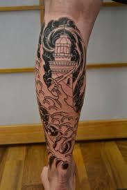 shin tatoos 35 awesome lighthouse tattoos on legs