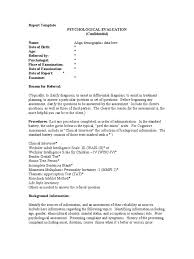 diagnostic report template report template psychological evaluation wechsler