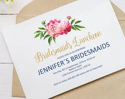 bridesmaid brunch invitations bridesmaid luncheon etsy