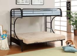 Fontana Metal Twin Futon Bunk Bed Purple Green Black White - Twin futon bunk bed