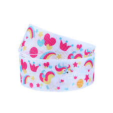 printed ribbon wholesale 50yards lot flora ribbons wholesale rainbow unicorn printed ribbon