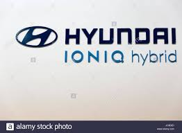 logo hyundai vector kiev ukraine april 07 2017 hyundai ioniq hybrid car booth