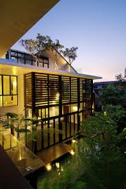 perfectly lovely modern exterior with rooftop trees modern