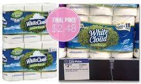 White Cloud Bathroom Tissue - 1 50 coupon white cloud bath tissue only 2 48 at walmart