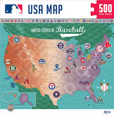 us map puzzle mlb usa map sports map puzzles masterpieces puzzles