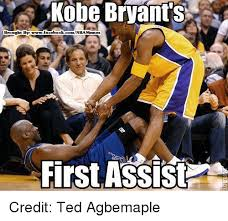 Kobe Bryant Memes - kobe bryant s brought by book comnba memes first assist credit ted