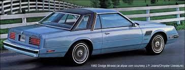 1980s dodge cars 1982 dodge mirada mid 1970 s to mid 1990 s automobiles