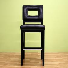Lydia Black Leather Chrome Chairs Brown Bar Stools Kitchen Dining Room Furniture The Home Depot