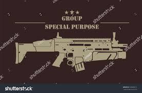 firearm logo template guns rifles badge stock vector 525690211