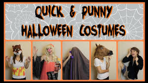 quick u0026 punny halloween costumes youtube