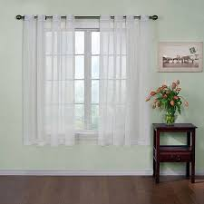 Gray And White Curtains Sheer Curtain Panels