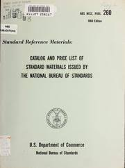 us bureau of standards standard materials issued by the national bureau of standards a