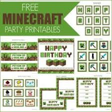 free minecraft printables party printables free and birthdays