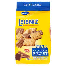 bahlsen mini chocolate leibniz biscuits 125g caletoni british