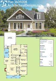 starter home plan 45105 total living area 1 227 sq ft 2