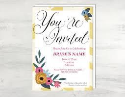 Words For Bridal Shower Invitation Bridal Shower Invitation Template Bridal Shower Template