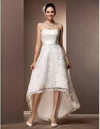 wedding dresses with sash ribbon a line asymmetrical lace wedding dress with sash