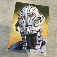 no strings on me ultron sketch card