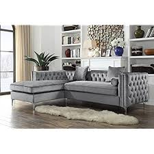 Grey Velvet Sectional Sofa Velvet Sectional Sofa