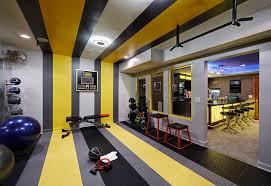 basement gym idea home gym contemporary glass wall basement design